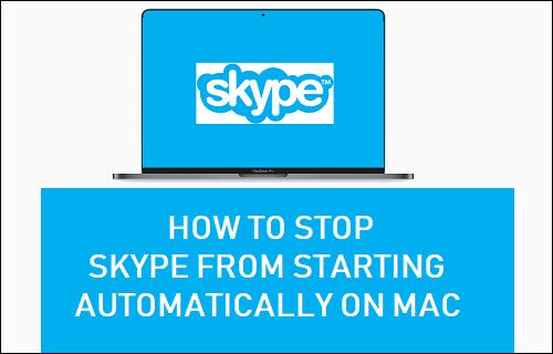 Detener Skype Desde el inicio automático en Mac
