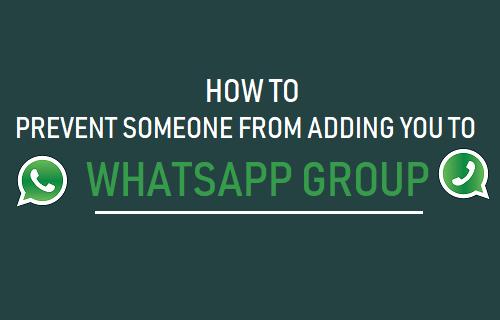 Evitar que alguien te agregue al grupo de WhatsApp