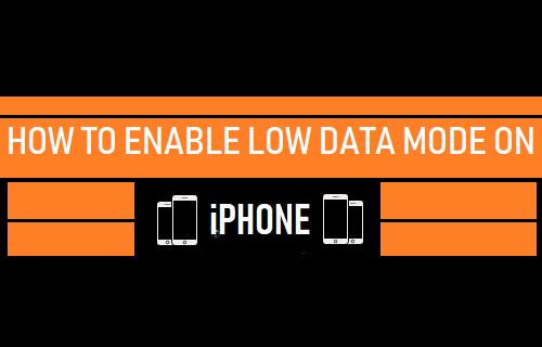 Habilitar el modo de datos bajos en iPhone