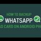 Cómo hacer una copia de seguridad de WhatsApp en la tarjeta SD en un teléfono Android