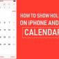 Cómo mostrar vacaciones en calendarios de iPhone y Mac
