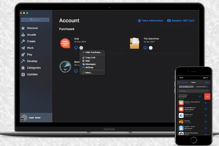 Cómo ocultar / mostrar compras de la tienda de aplicaciones en iPhone, iPad y Mac