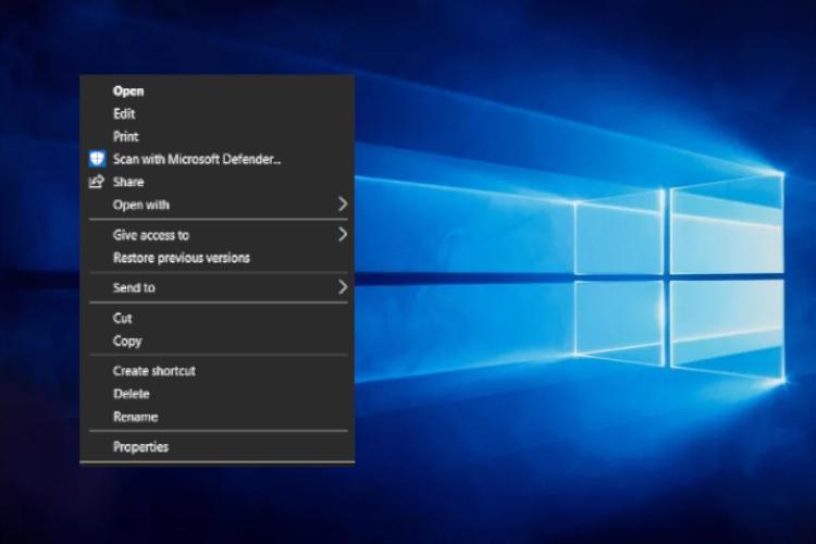Cómo personalizar el menú del botón derecho en Windows 10