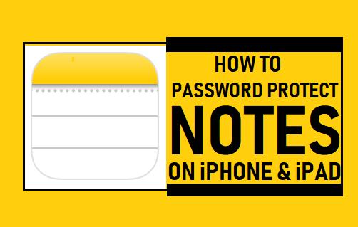 Kuinka salasanalla suojata muistiinpanoja iPhonessa ja iPadissa
