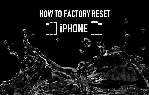 Kuinka tehdasasettaa iPhone