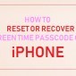 Cómo restablecer el código de acceso de tiempo de pantalla en iPhone