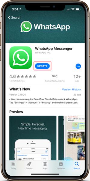 Ako povoliť dotykové ID a ID tváre v WhatsApp 1
