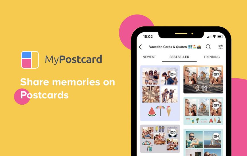Jaa postikortti-tunneesi MyPostcard-sovelluksen avulla