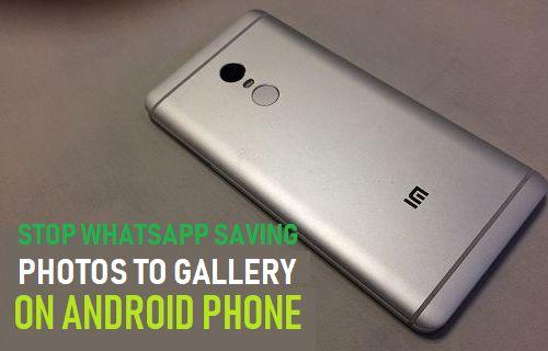 Deje de guardar fotos de WhatsApp en la galería en el teléfono Android