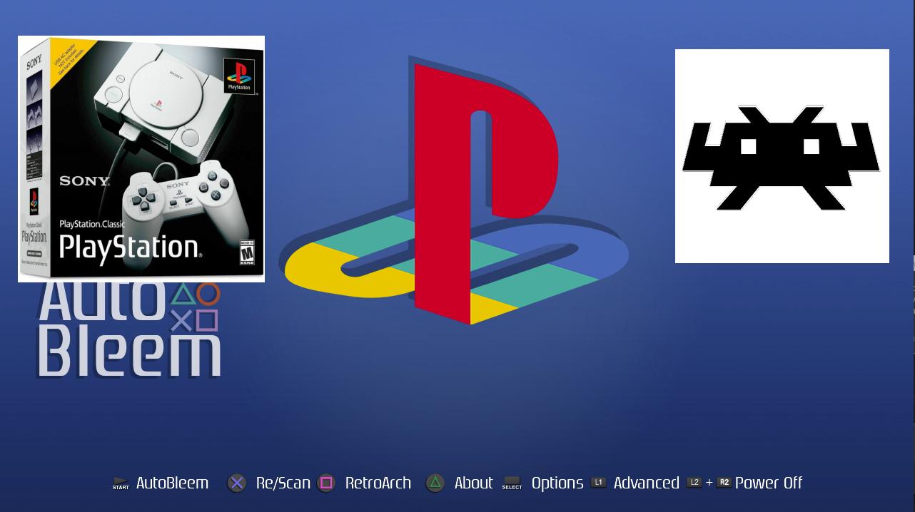 Desarrollos recientes de PlayStation Classic: RetroBoot 0.10 con RetroArch 1.8.1 y mejor emulación Dreamcast / Saturn, AutoBleem 0.8/.1 con soporte de categoría y consola que actualmente se vende por $20 @ GameStop