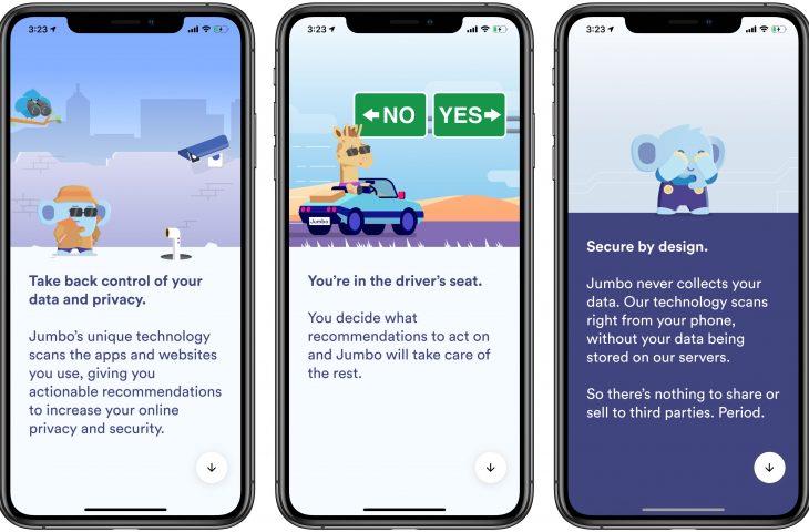 Jumbo para iPhone es un poderoso asistente de privacidad creado por el fundador de Sunrise