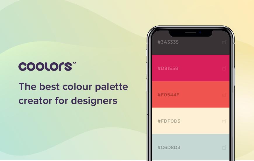 Coolors: la mejor aplicación de generador de paleta de colores
