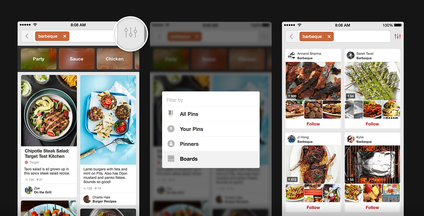 Pinterest para Android: Cómo editar tableros