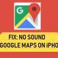 Retraso o falta de sonido en Google Maps en iPhone