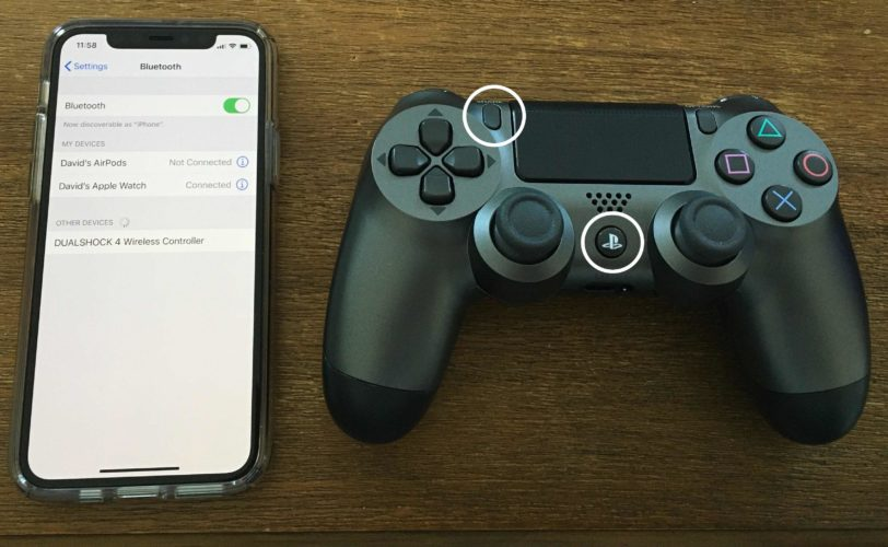 conecta el iphone al controlador ps4