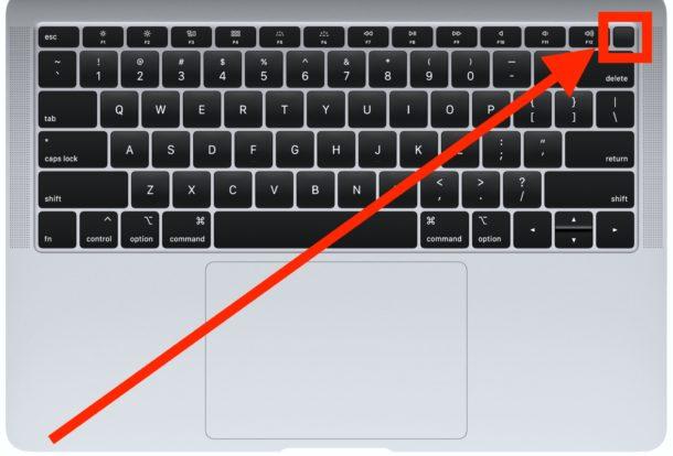 Cómo forzar el reinicio del nuevo MacBook Air con Touch ID botón de encendido