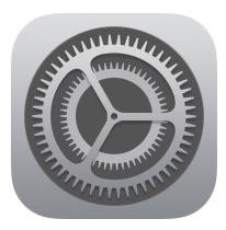 Ícono de configuración de iOS