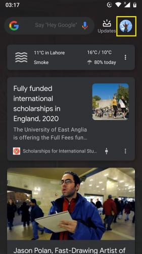 Cuenta de Google en Android 9