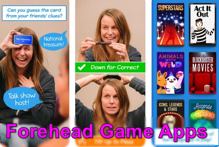 Aplicaciones de juegos en la frente