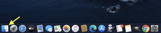 Inicie Finder en su dispositivo macOS