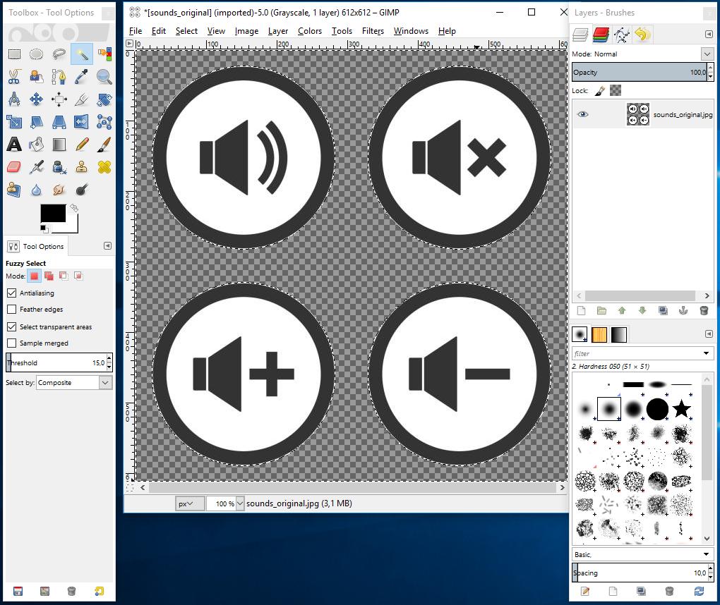 Cómo hacer que el fondo de la imagen sea transparente en GIMP