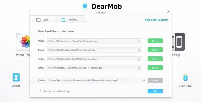 Exportar archivos con DearMob