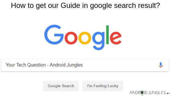 Cómo obtener nuestro artículo en google search result-Android Jungles