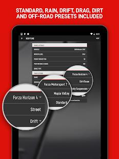 forza Tune 7  Captura de pantalla de Forza Tuning Calculator