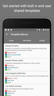 MacroDroid - Captura de pantalla de la automatización del dispositivo