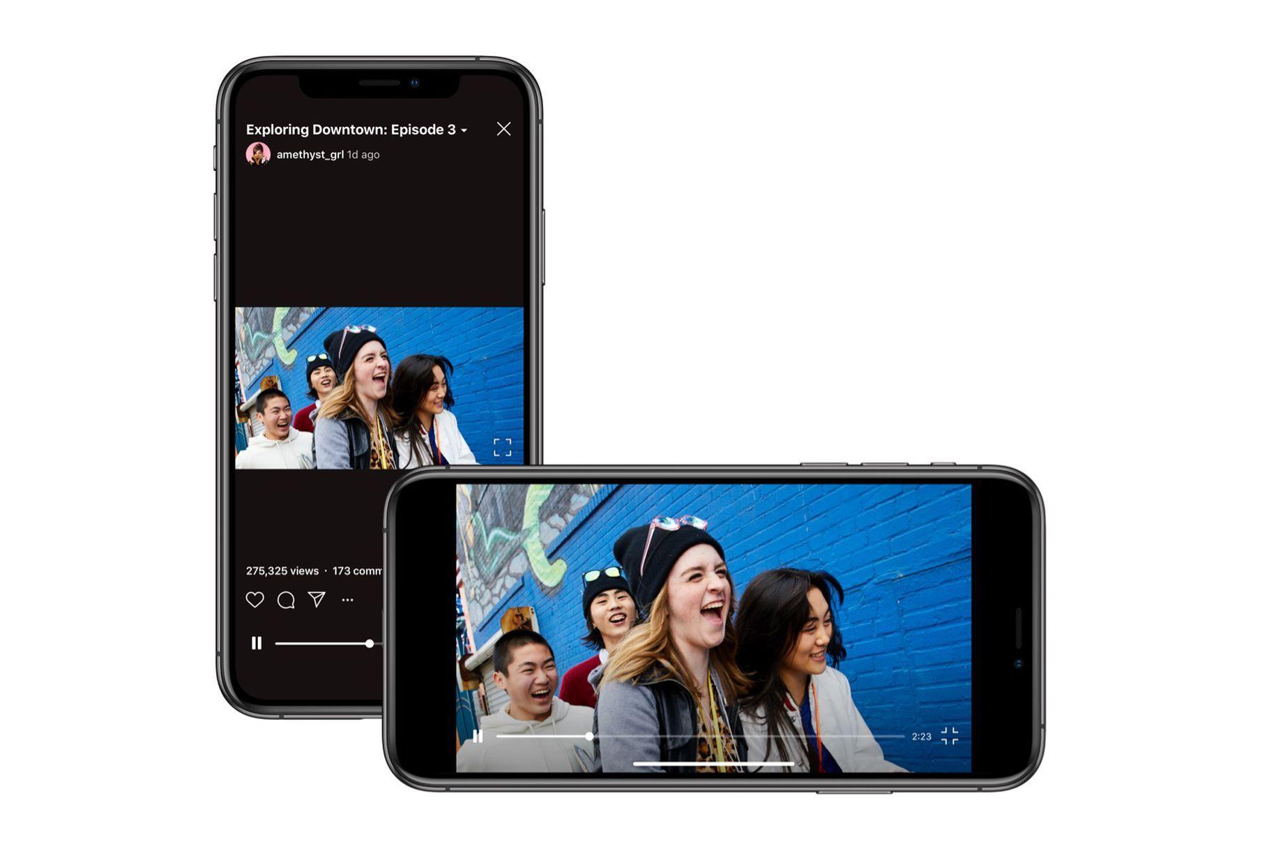 InstagramIGTV obtiene soporte para video horizontal