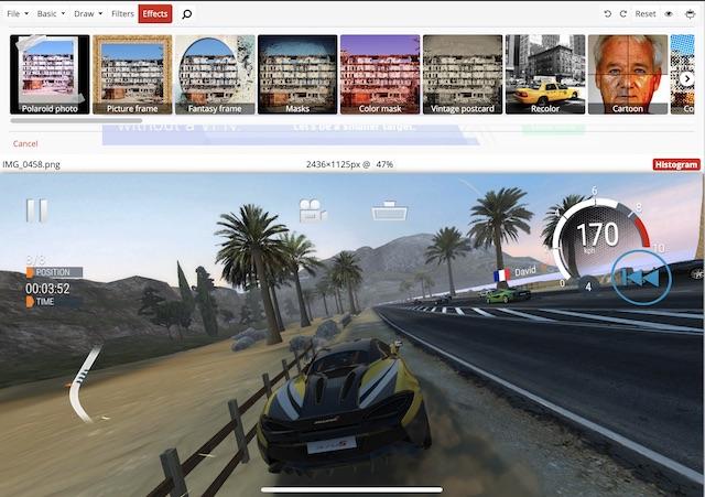 Software de edición de fotos gratuito en línea