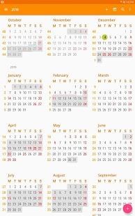 Captura de pantalla de calendario y tareas de aCalendar +