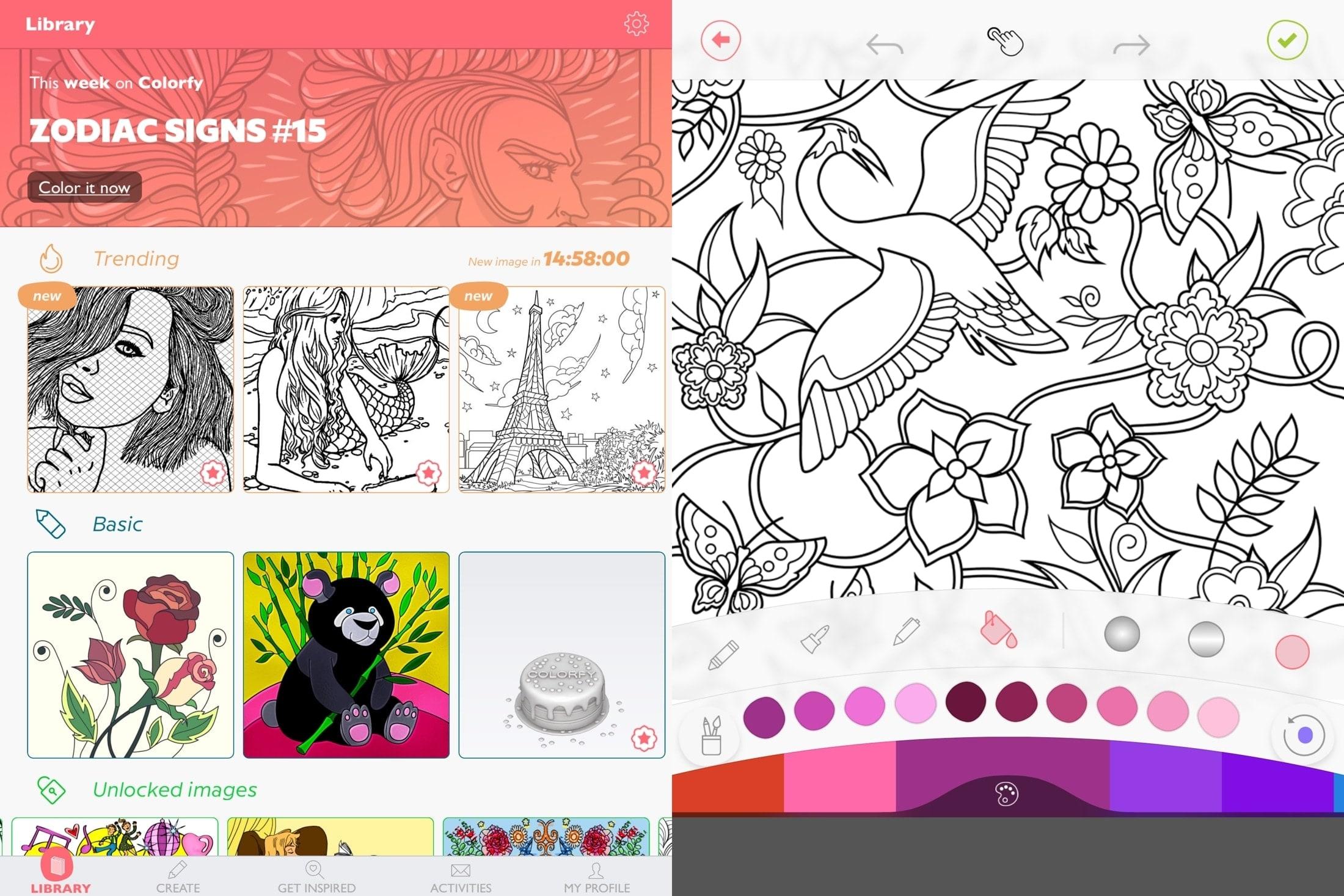 Colorfy en iPad