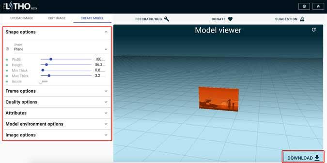 seleccione un modelo y ajuste la configuración para el modelo