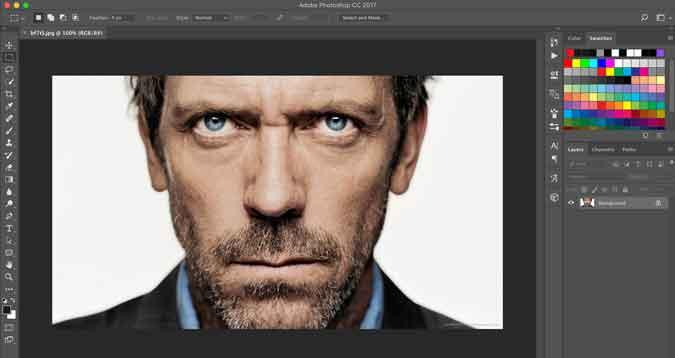 abrir imagen en Photoshop