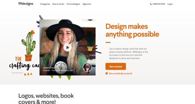 99design - Los mejores sitios web independientes