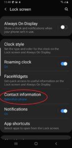 Editar información de contacto