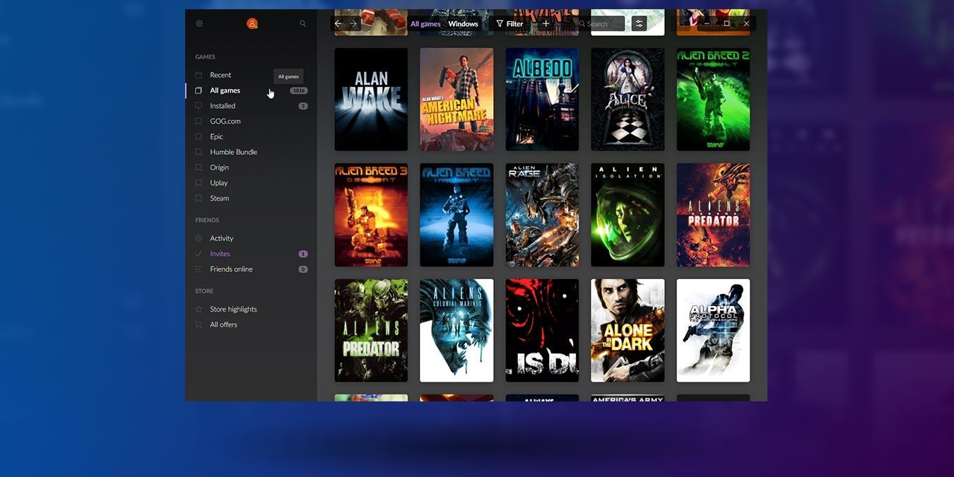 Gestiona todos tus juegos en diferentes tiendas con GOG Galaxy 2.0