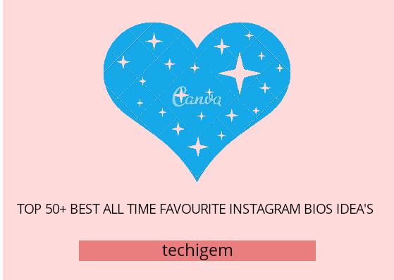 todas las ideas de bios de Instagram favoritas de favroite