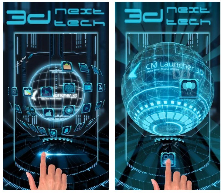 3D Next Tech Theme Launcher