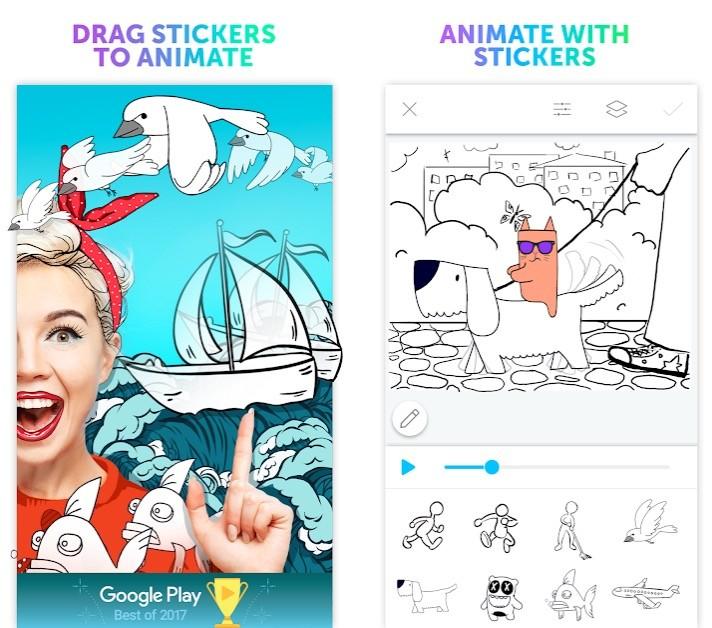 Aplicación PicsArt Animator