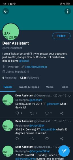 2. @DearAssistant