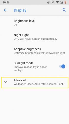 Acceder a la opción de tema oscuro en Android Nougat