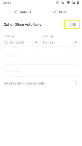 Aktivieren Sie die automatische Antwort außerhalb des Büros in Google Mail.