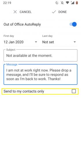 So richten Sie die automatische Abwesenheitsanzeige in Google Mail für Android ein 1