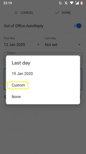 So richten Sie die automatische Abwesenheitsanzeige in Google Mail für Android ein 2
