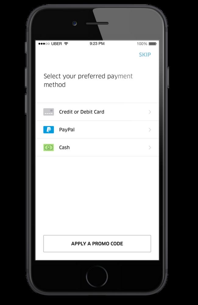 Aplicación Uber para Android: cómo agregar y / o cambiar el método de pago