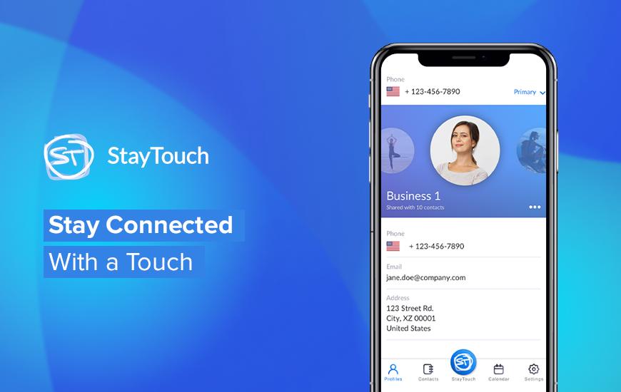 Aplicación StayTouch: tarjeta de negocios digital sobre la marcha