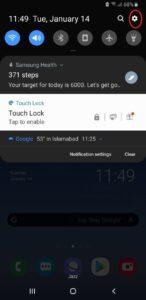 página principal de Android