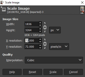 Cómo verificar DPI de imagen a escala de imagen